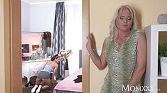 MOM Hot blonde Milf fucks sexy cleaner