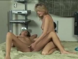 Brutal Lesbian Strap-on Facefuck