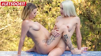 LETSDOEIT - #Lena Love #Lya Missy - Sexy Euro Lesbians Are Making Love By The Pool