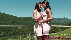 Stroking and licking lesbian european