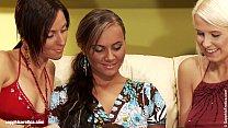 Smoking hot lesbians Wanda, Simona and Nataly anal and oral play on Sapphic Erot