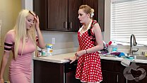 Mother helps her Daughter Move on from Ex - Realistic Strapon Scene
