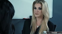 PURE TABOO Businesswoman Lets Joanna Angel Scissor With Her Secretary After Losing A Bet