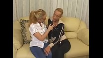 Two gorgeous raunchy housewives with golden hair Kathy Euro and Yvette and big melons are not against to play pranks for a while