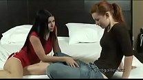 Sweet Lesbian Student Seduced